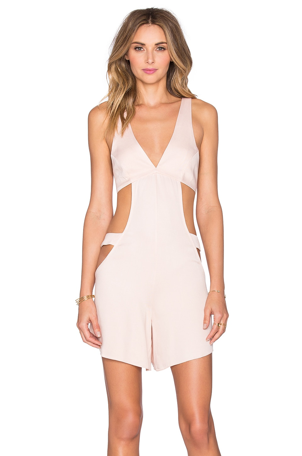 Twill Chalis Romper by ADRIANA DEGREAS