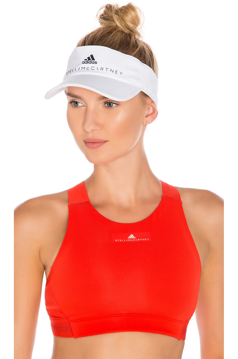 adidas by Stella McCartney Visor in White & Legend Blue