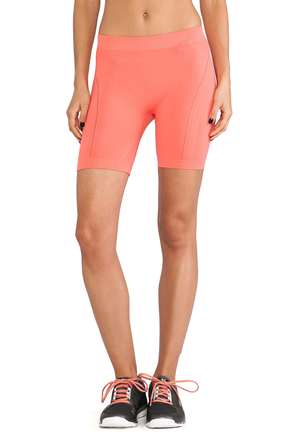 adidas by Stella McCartney YO Seamless Short in Bright Coral