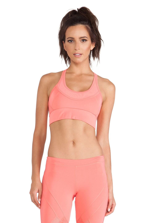 adidas by Stella McCartney Essentials Perforated Sports Bra in Poppy Pink