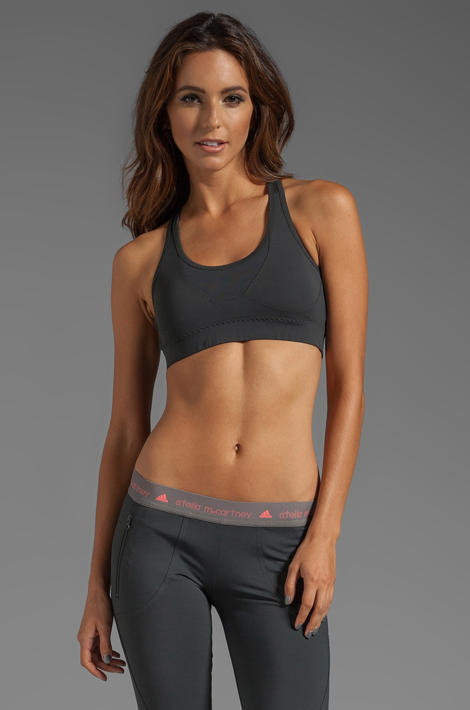 adidas by Stella McCartney ES Perf Bra in Solid Grey