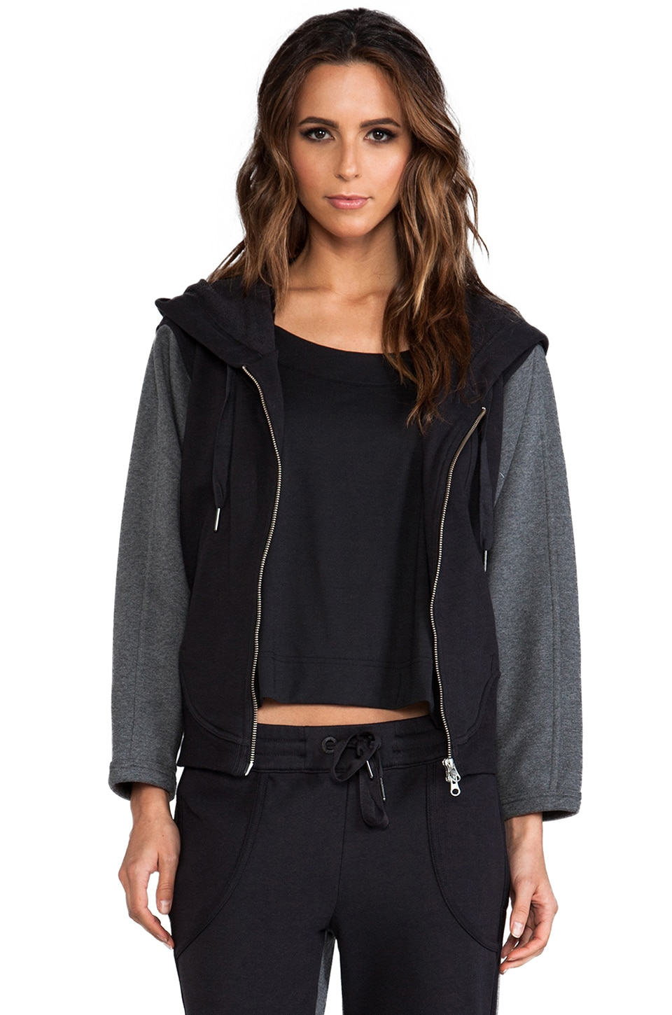 adidas by Stella McCartney ESS Hoodie in Black
