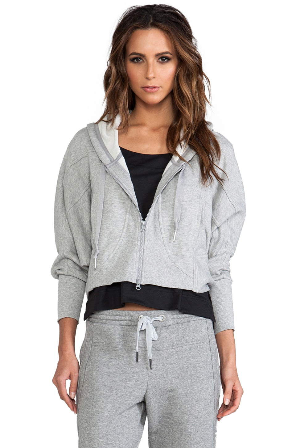 adidas by Stella McCartney Stu Hoodie A in Medium Heather Grey