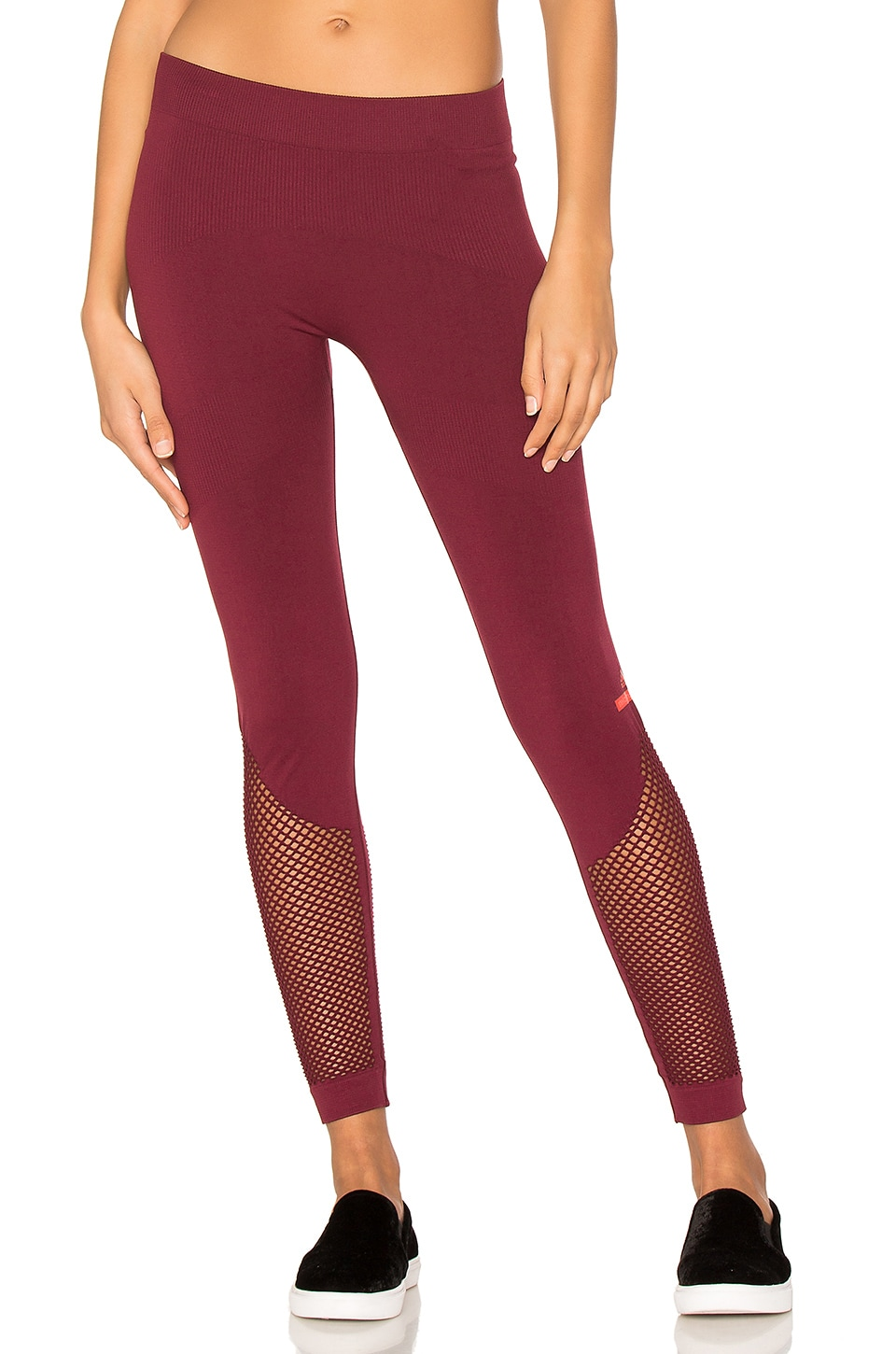adidas by Stella McCartney The Seamless Mesh Tight in Cherry Wood
