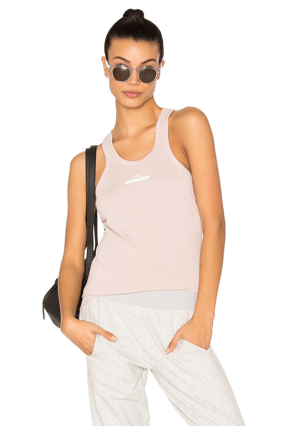 adidas by Stella McCartney The Racer Tank in New Rose