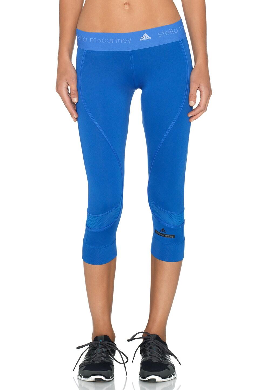 adidas by Stella McCartney Running 3/4 Tight in Flight Blue