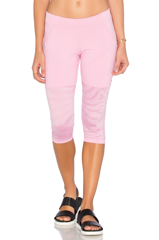 adidas by Stella McCartney Studio Zebra 3/4 Legging in Blush Pink
