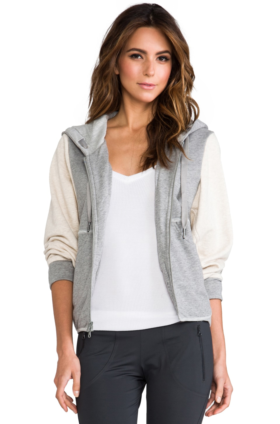 adidas by Stella McCartney ES Hood Jacket in Core Heather/Powder Mel