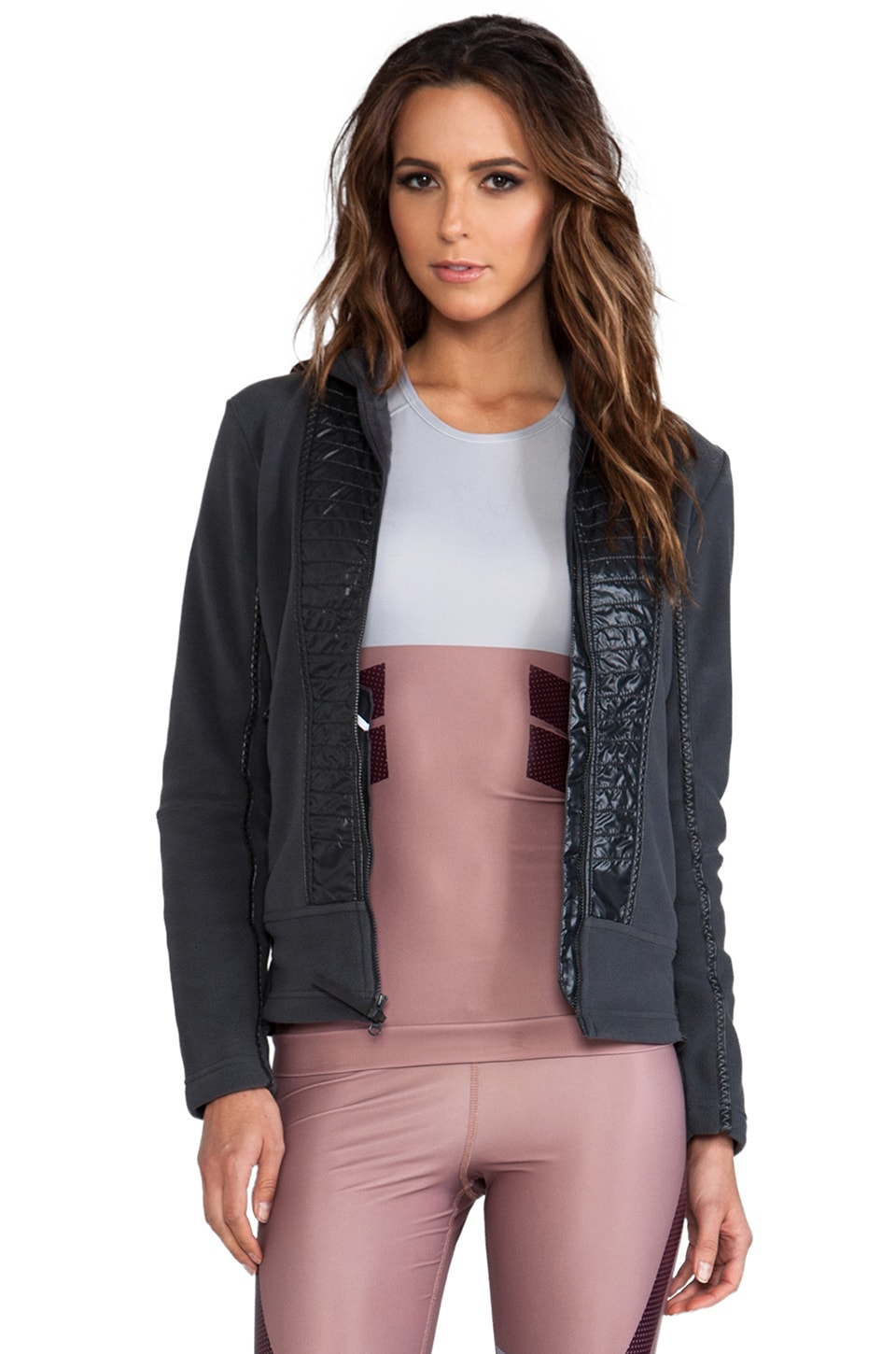 adidas by Stella McCartney Perf Fleece Jacket in Solid Grey