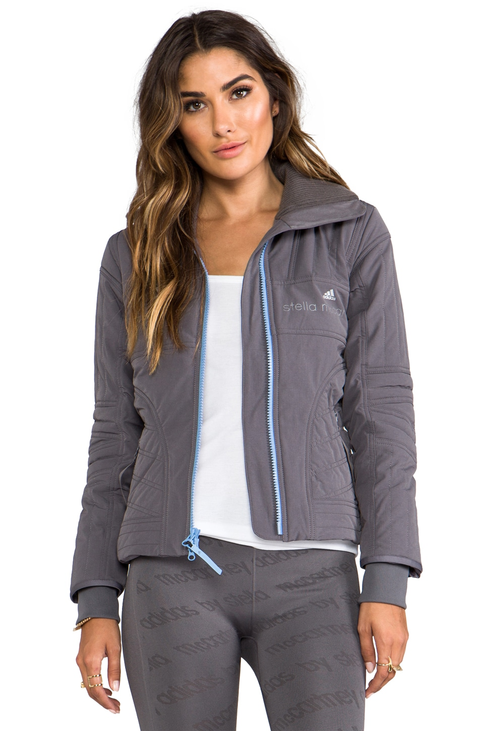 adidas by Stella McCartney WS Slim Pad Jacket in Sharp Grey