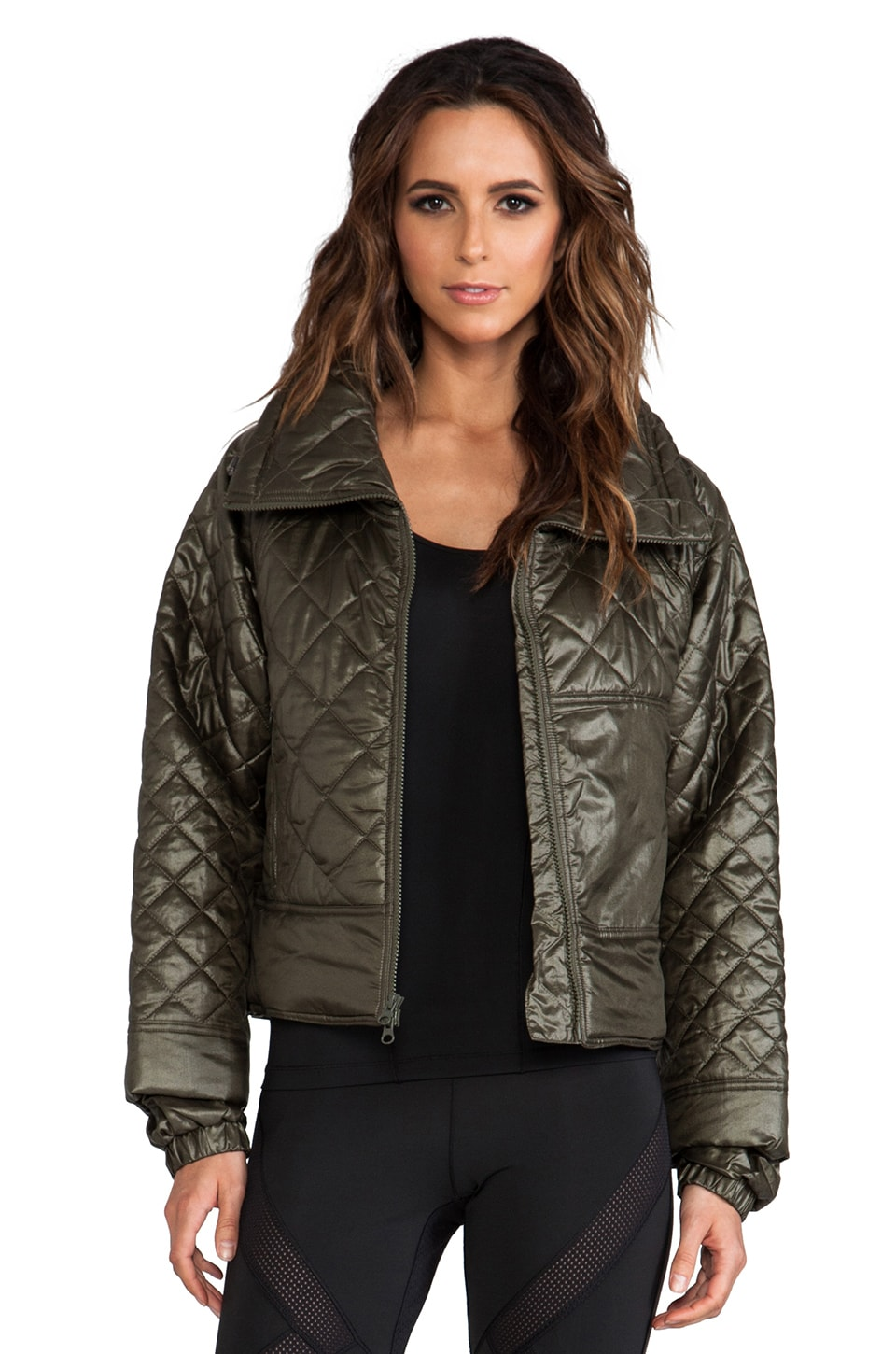 adidas by Stella McCartney ES Cropped Jacket in Earth Green