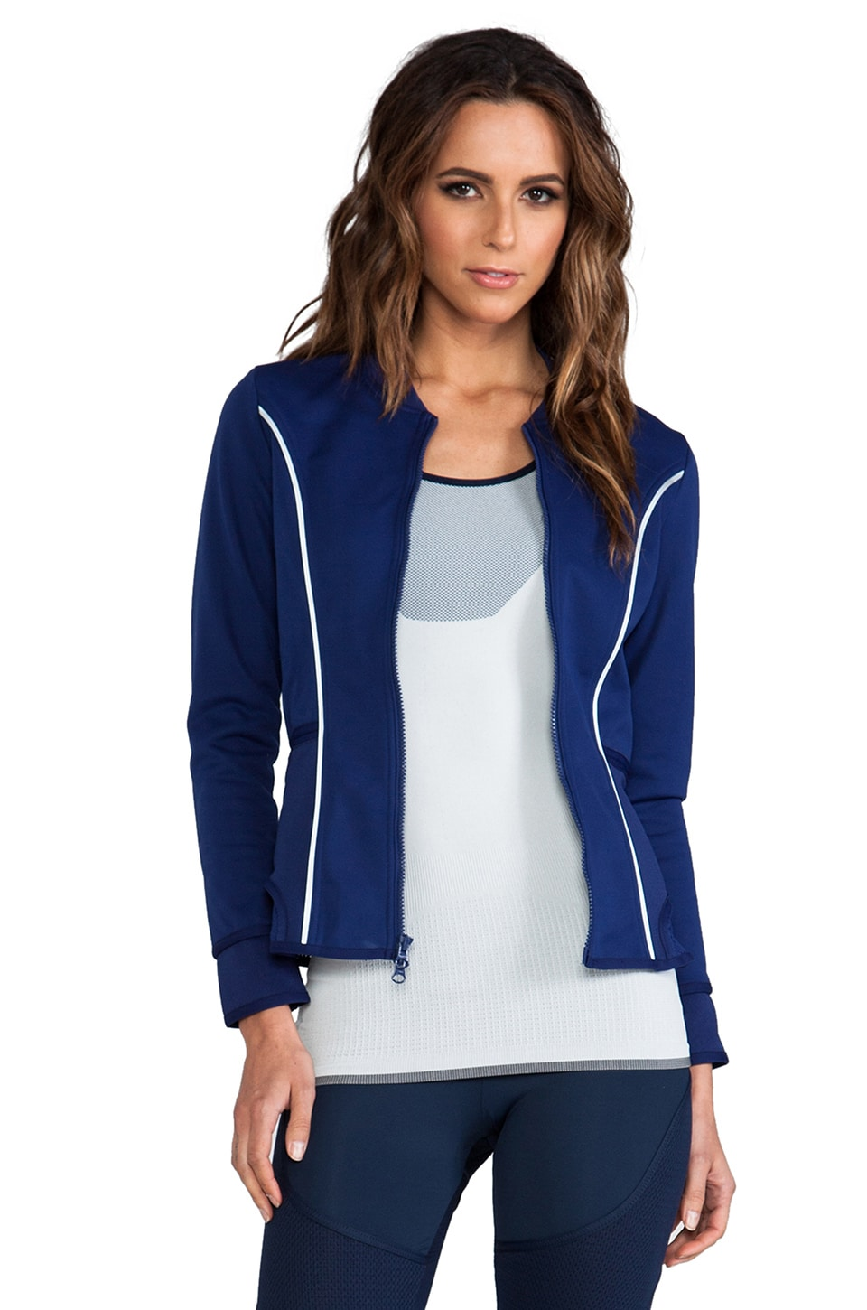 adidas by Stella McCartney Run Perf Midlay Jacket in Night Blue