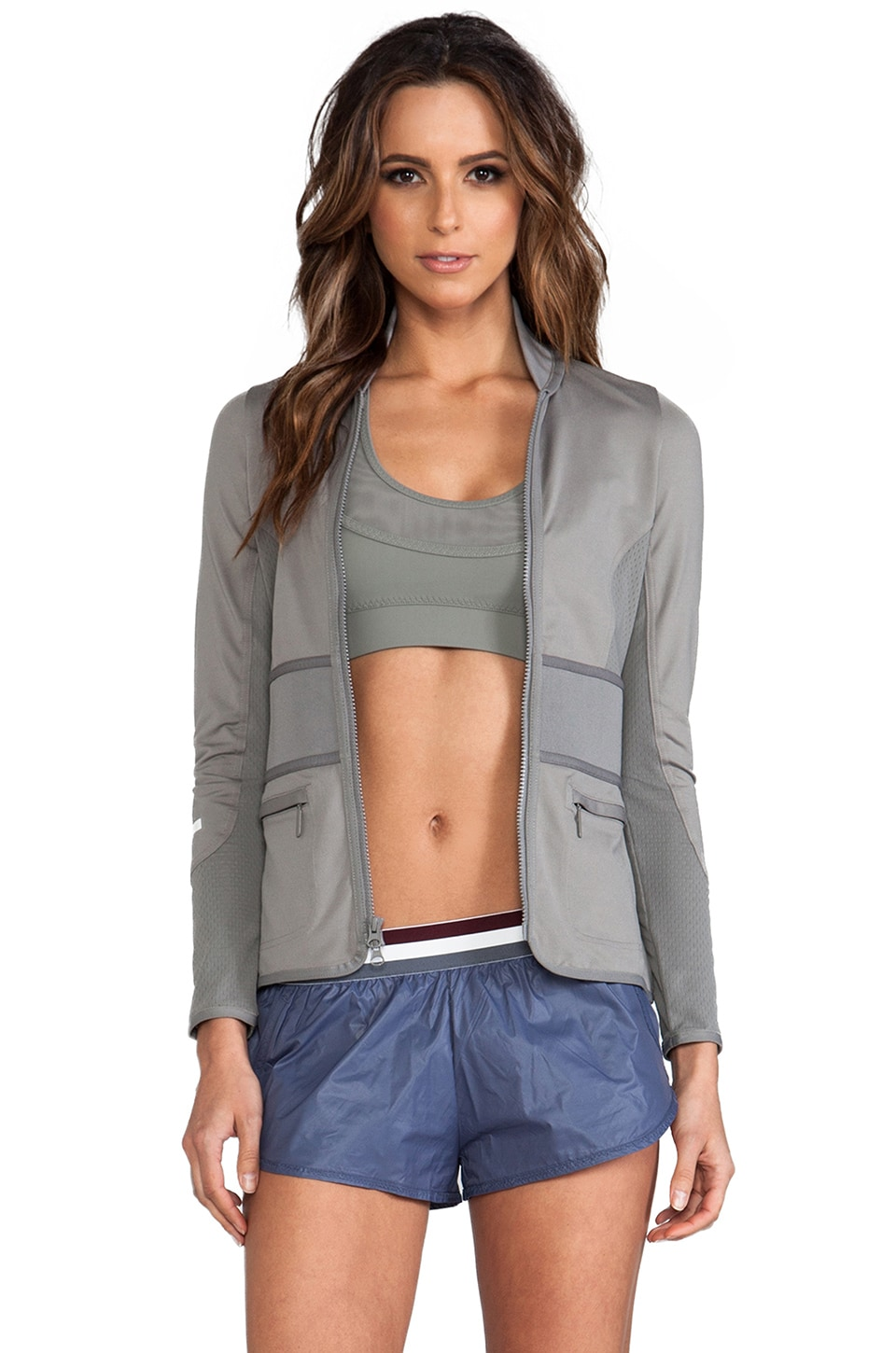 adidas by Stella McCartney Run Perf Midlay Jacket in Mystery