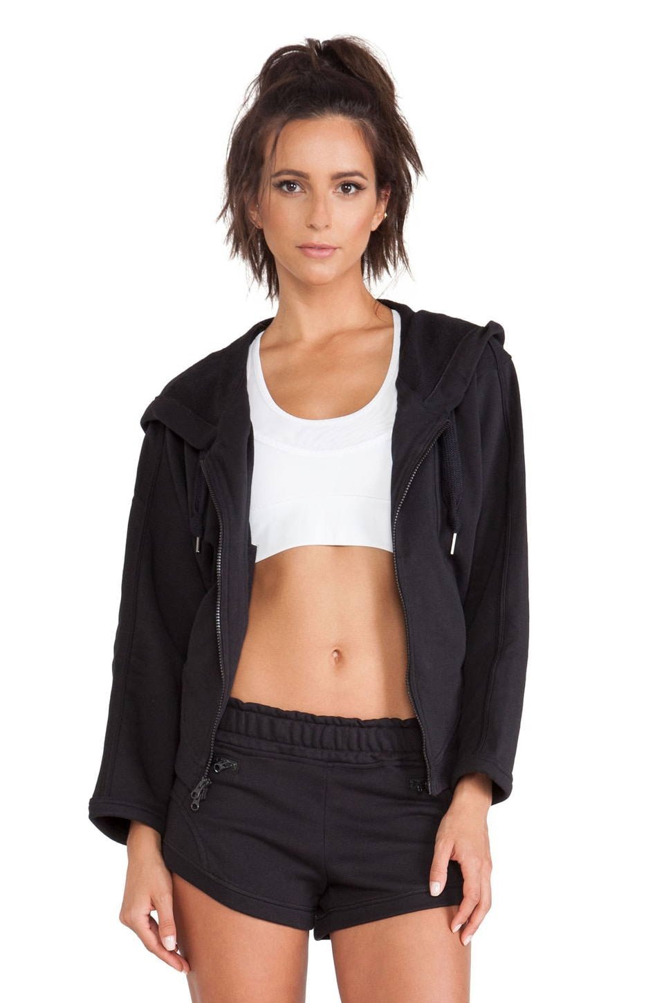 adidas by Stella McCartney Essentials Zip Hoodie in Black