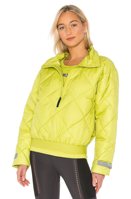 adidas by Stella McCartney Padded Pull On Jacket in Half Green