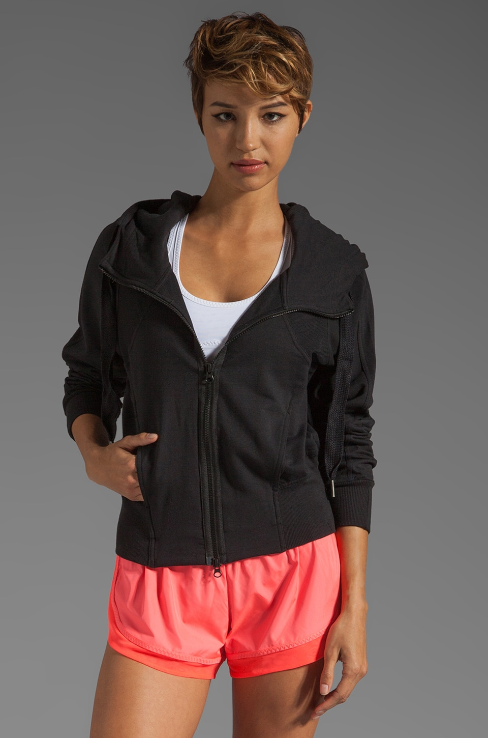 adidas by Stella McCartney Athletic Jacket in Black