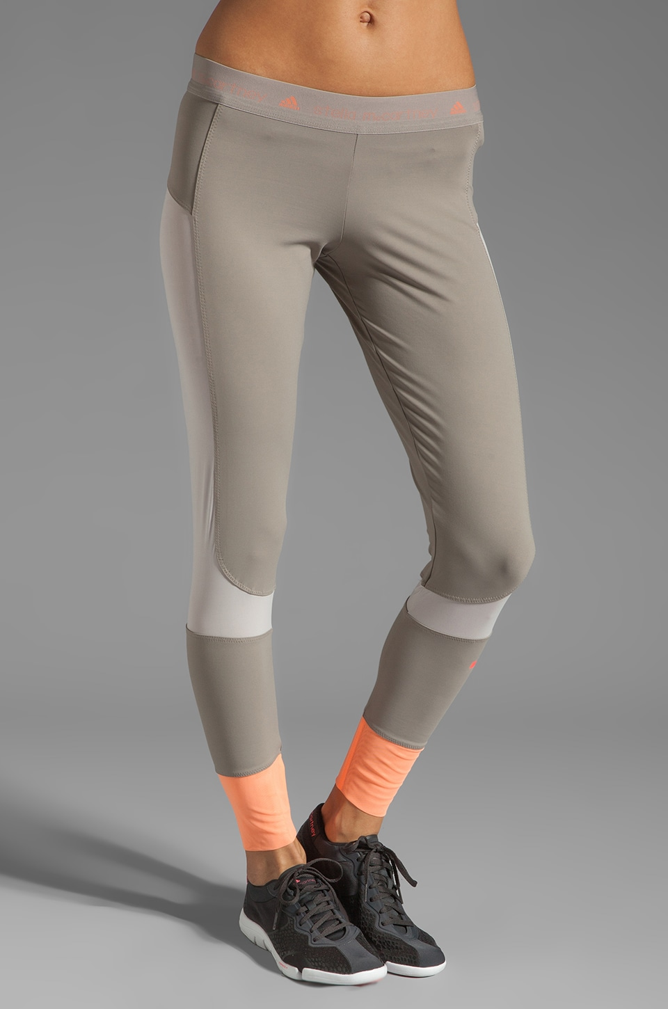 adidas by Stella McCartney Athletic Pant in Grey Feathers/Powder/Ultra Bright