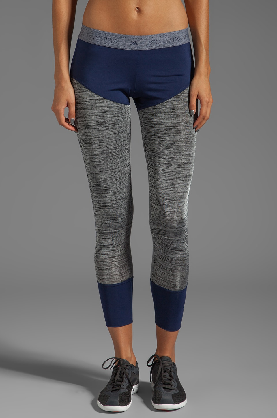 adidas by Stella McCartney Stu Long Tight Legging in Dark Ink