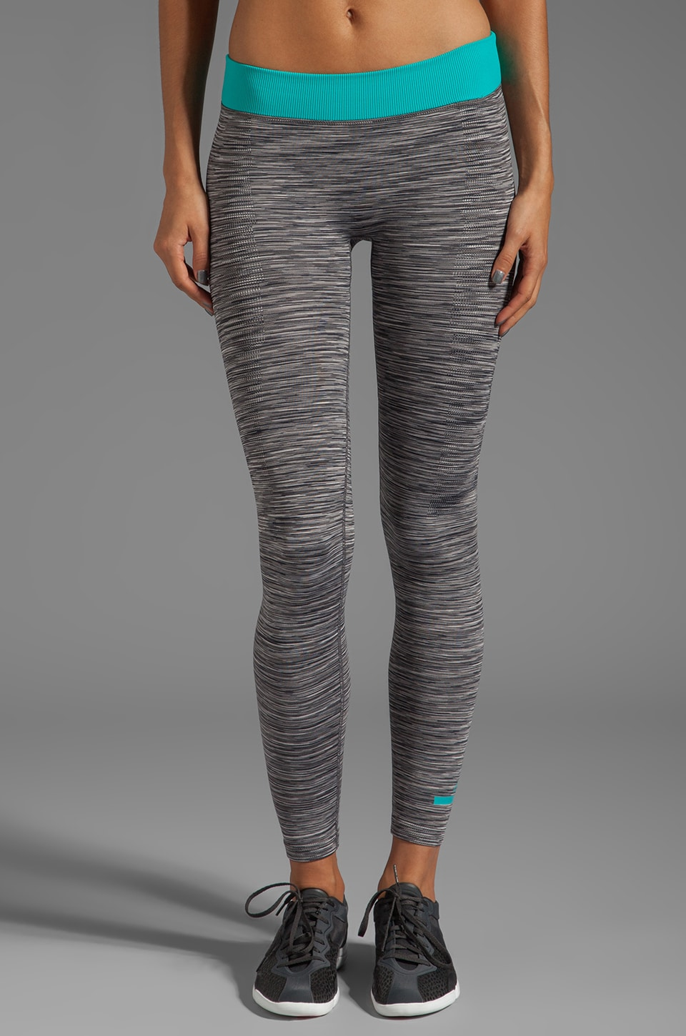 adidas by Stella McCartney YO SL 7/8 Tight Legging in Sharp Grey/Multicolor/Ultra Green