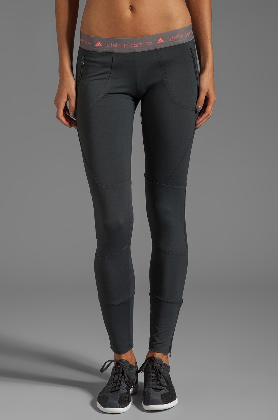 adidas by Stella McCartney Run Perf Tight Legging in Solid Grey