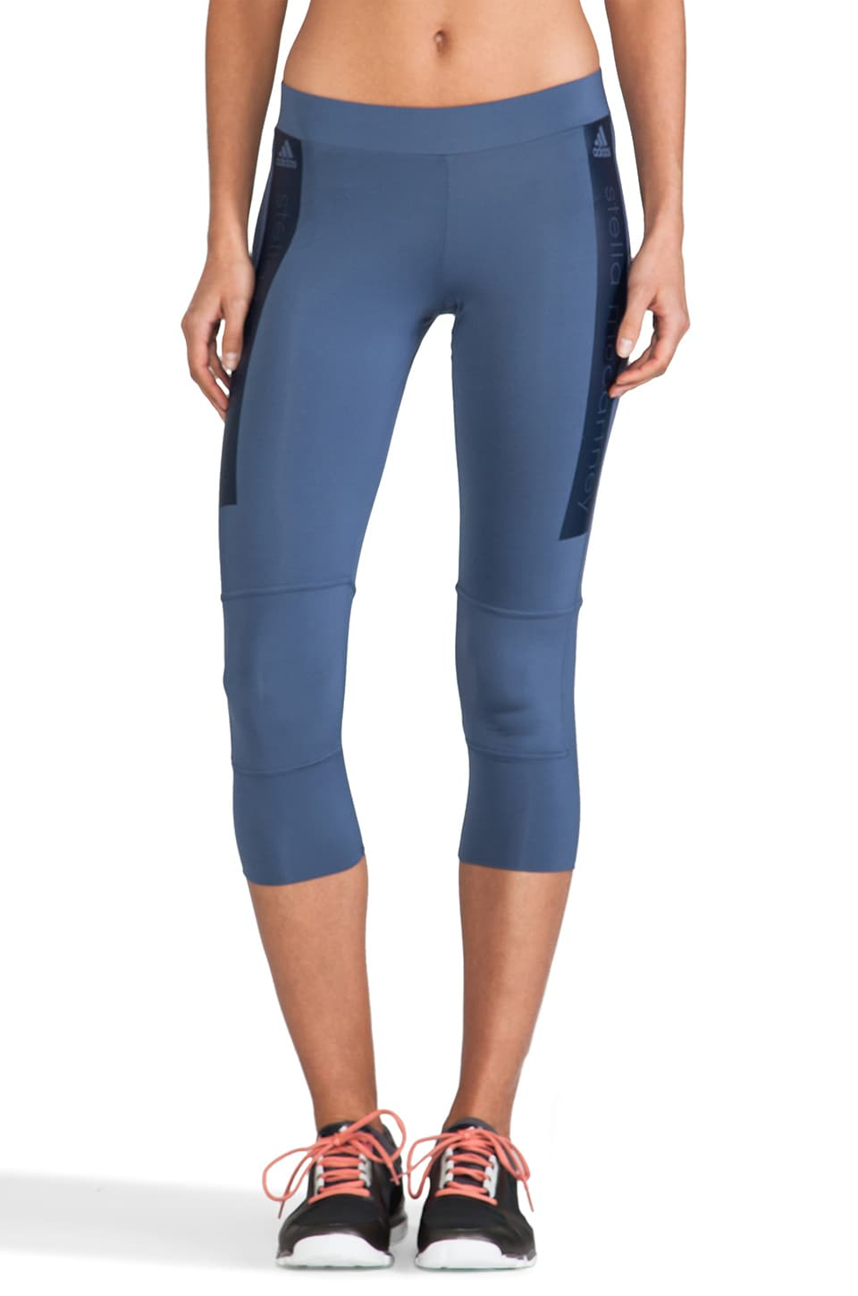 adidas by Stella McCartney Stu 3-4 Tight Legging in Dark Atlantic