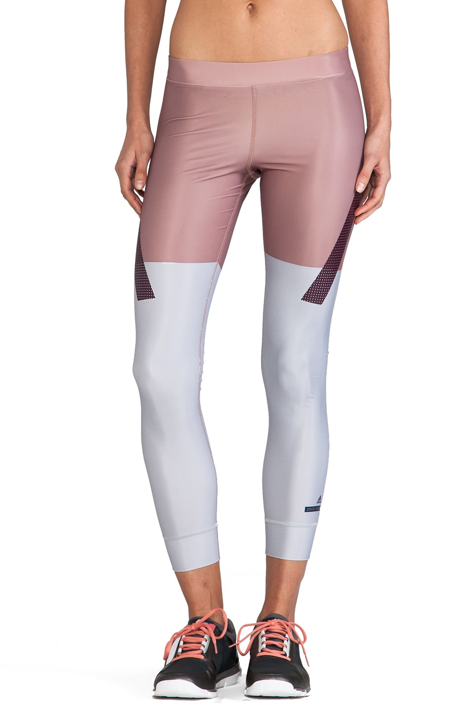 adidas by Stella McCartney Run TF Tight Legging in Tanned Sand & Universe