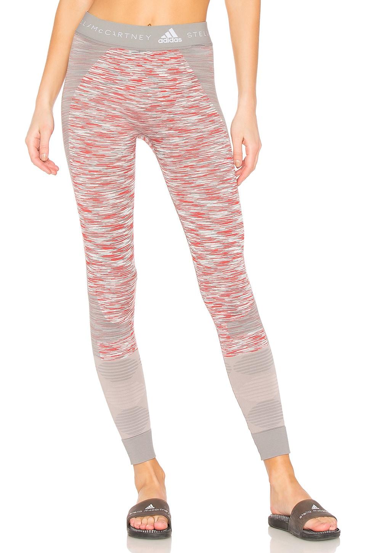adidas by Stella McCartney Yoga Space Dye Legging in Grey, White & Dark Callisto