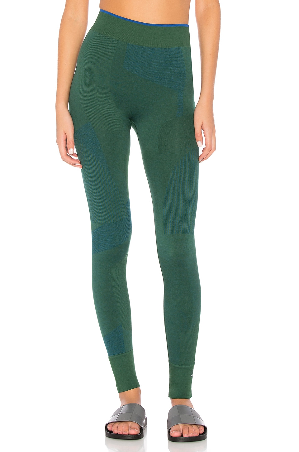 adidas by Stella McCartney Train Seamless Tight in Dark Green