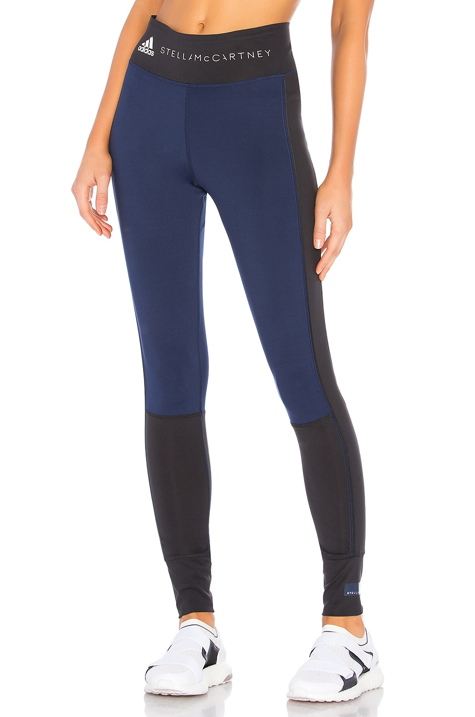adidas by Stella McCartney Yoga Comfort Legging in Black & Night Indigo