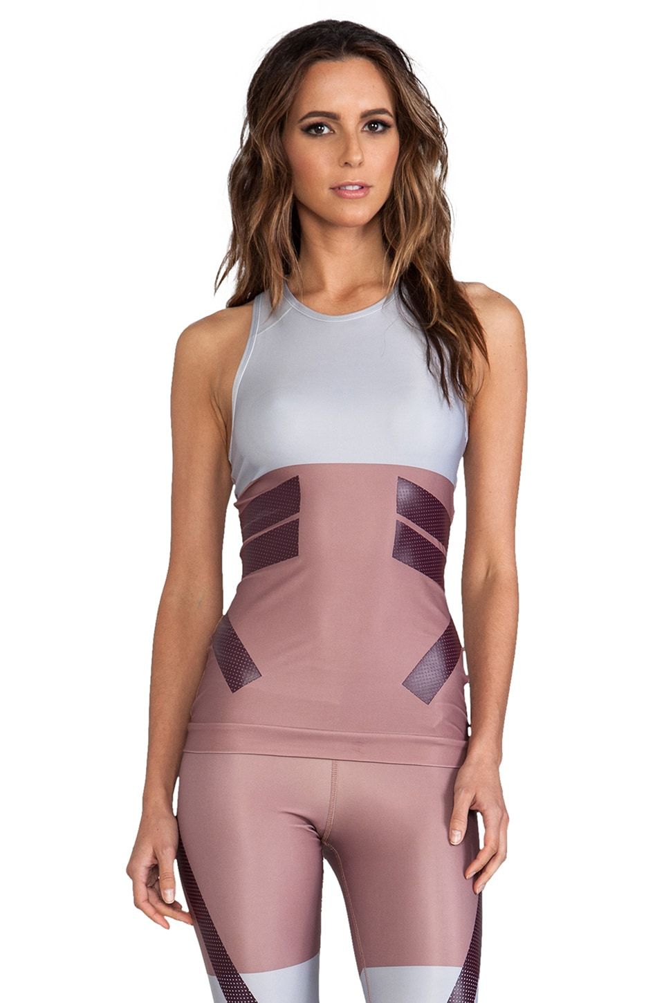 adidas by Stella McCartney Run Tech Fit Tank in Tanned Sand & Universe
