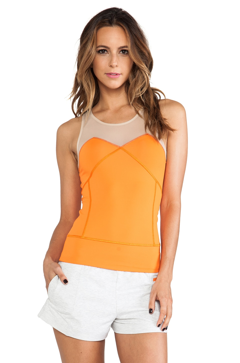 adidas by Stella McCartney Run Perf Tank in Intense Orange & Ginger