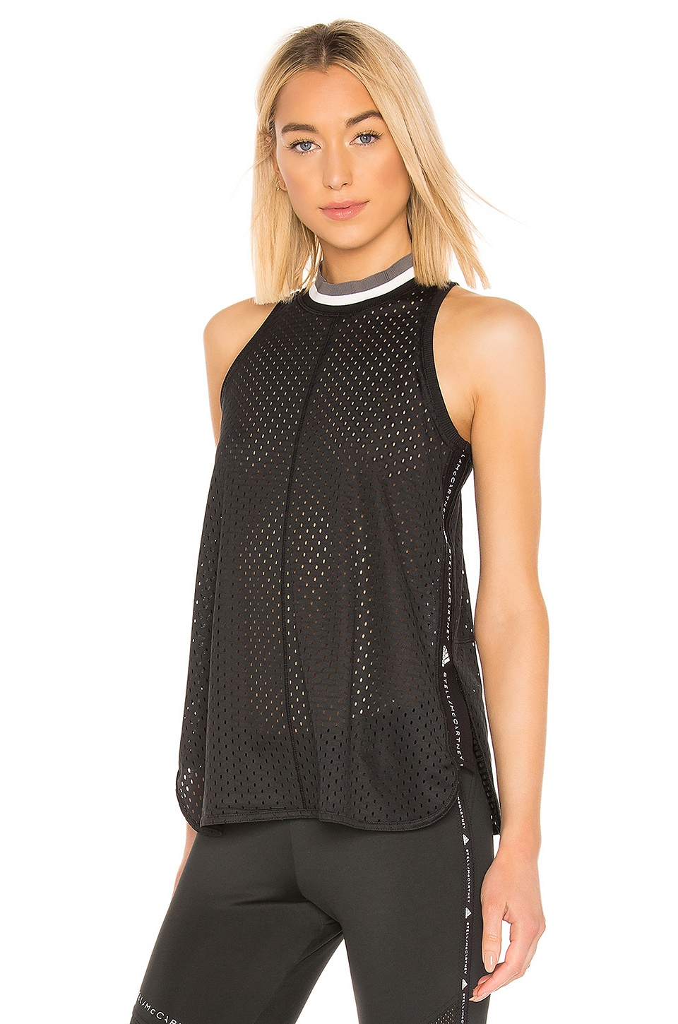 adidas by Stella McCartney Train Mesh Tank in Black
