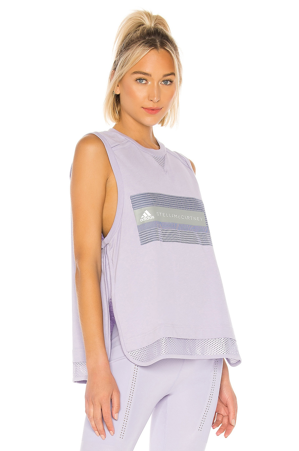 adidas by Stella McCartney Logo Tank in Iced Lavender