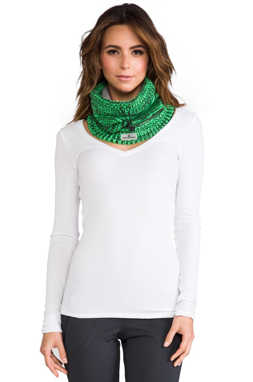 adidas by Stella McCartney Ski Neck Warmer in Rich Green/Green Zest/Solid Grey
