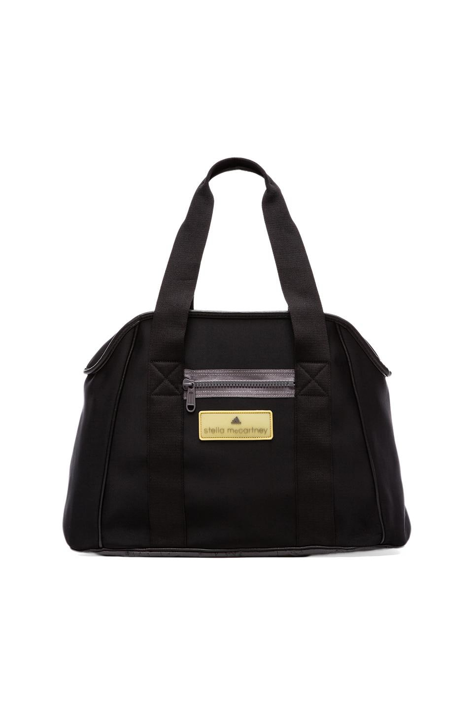 adidas by Stella McCartney Small Gym Bag in Black & Grey