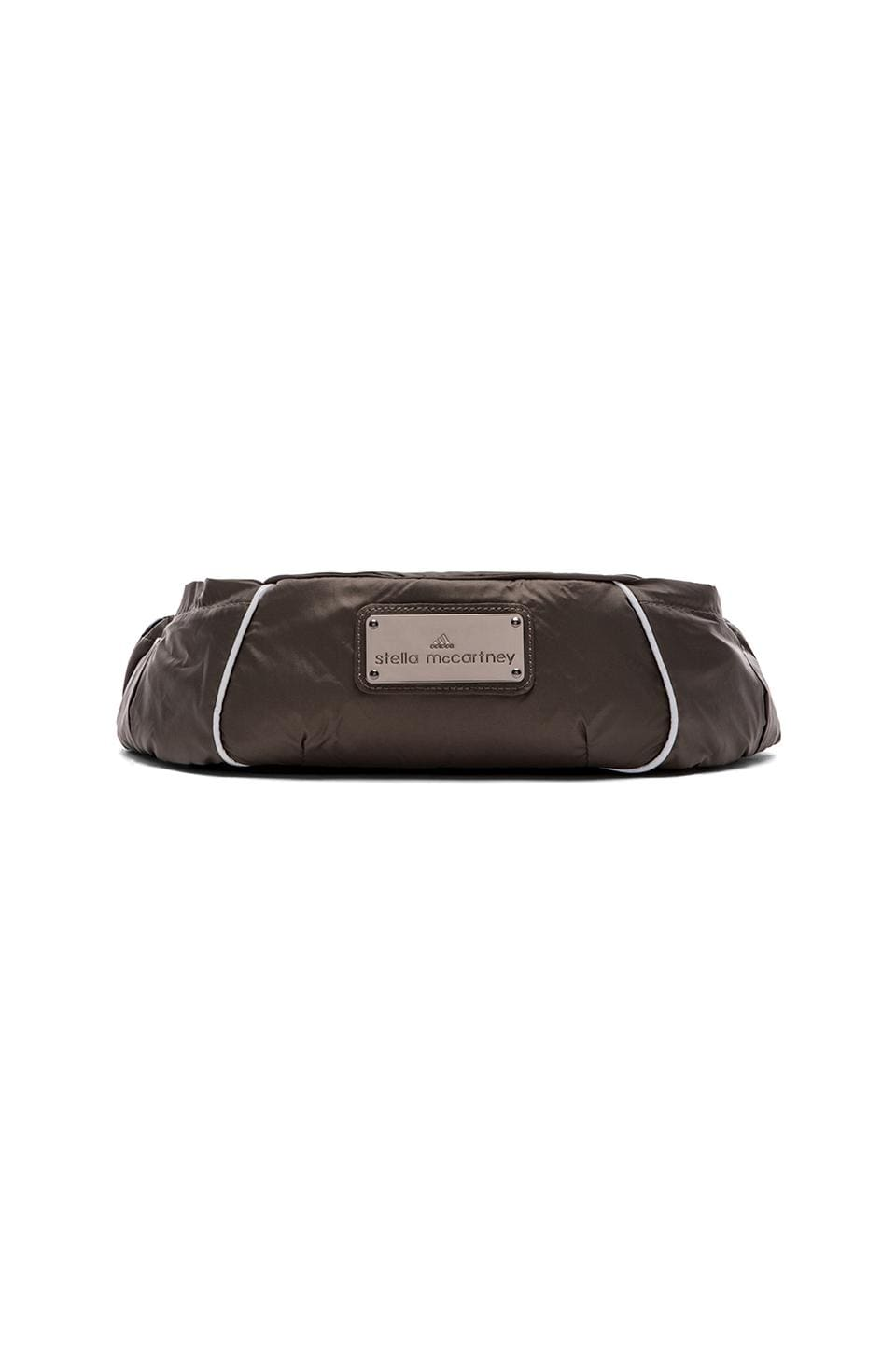 adidas by Stella McCartney Running Bum Bag in Base Brown & Gunmetal