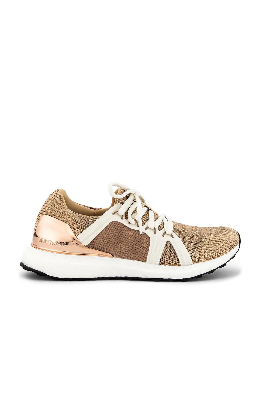 adidas by Stella McCartney Ultraboost Sneaker in Future Metallic, Copper 7 Clay Red