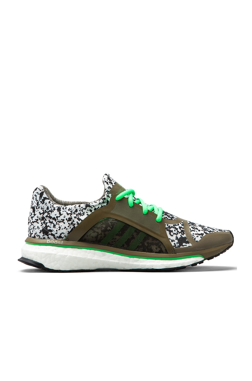 adidas by Stella McCartney Trochilus Boost Sneaker en Lizard/Green Zest/Running White
