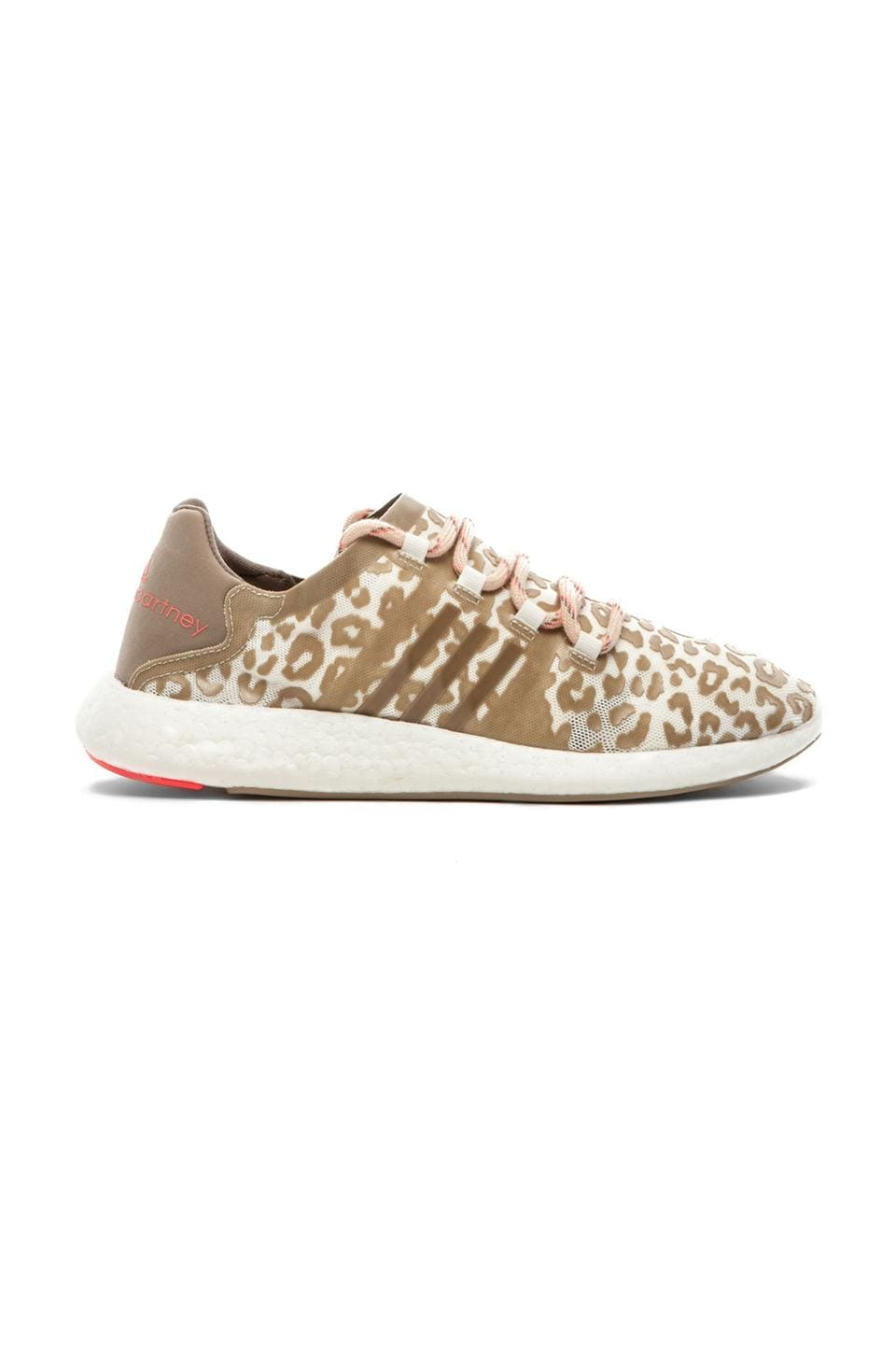 adidas by Stella McCartney Pure Boost Running Shoes in Natural Grey & Ginger & Red Zest