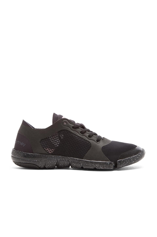 adidas by Stella McCartney Ararauna Studio Shoe in Black & Black Onix & Smoked Pink