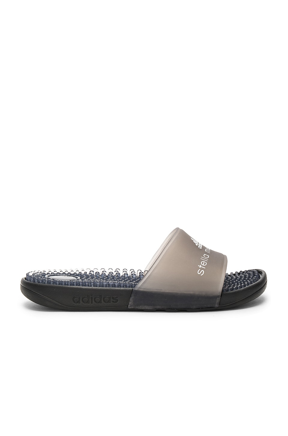 adidas by Stella McCartney Adissage Recovery Slide in Core Black & White