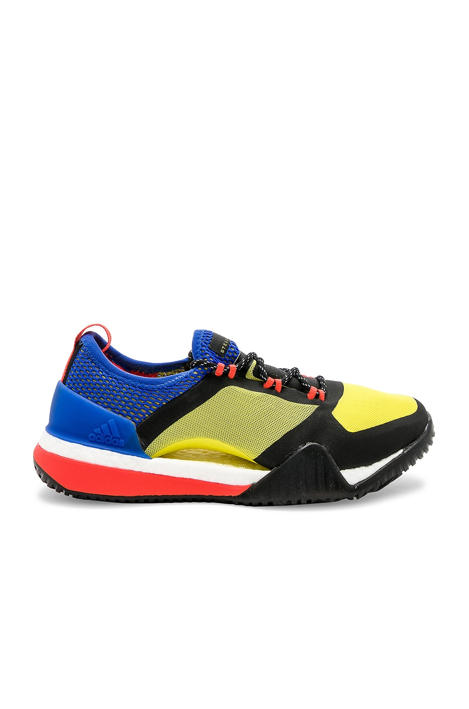 adidas by Stella McCartney Pure BOOST x TR 3.0 Sneaker in Bright Yellow & Hi Res Blue from