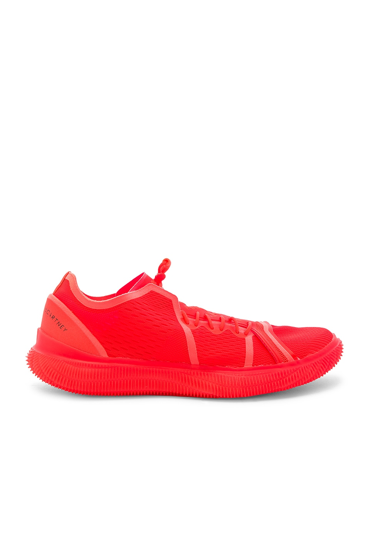 adidas by Stella McCartney PureBOOST TRAINER in Solar Red & Core Black