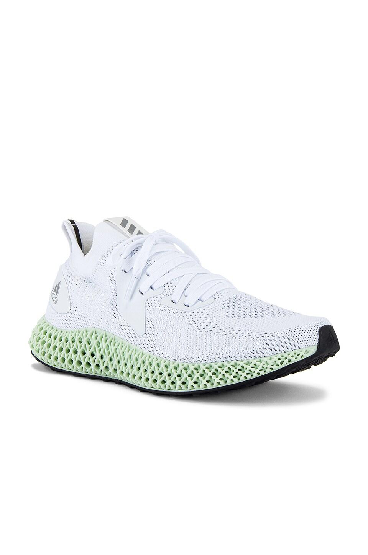 adidas Originals Alpha Edge 4D Sneaker in Core Black & Silver & Core Black