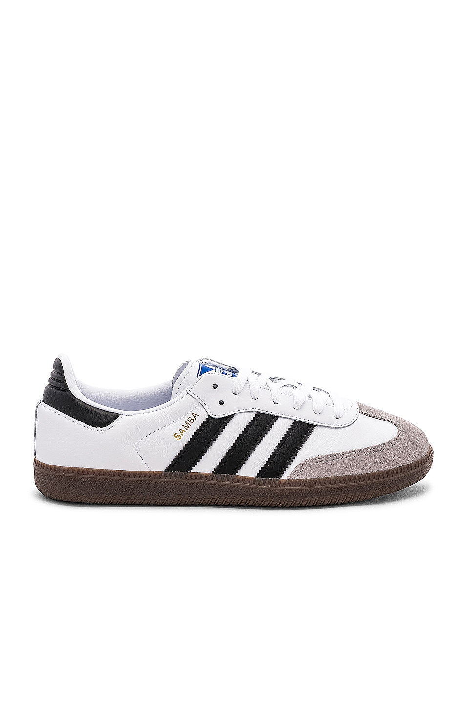 adidas Originals Samba in White & Black & Clear Granite