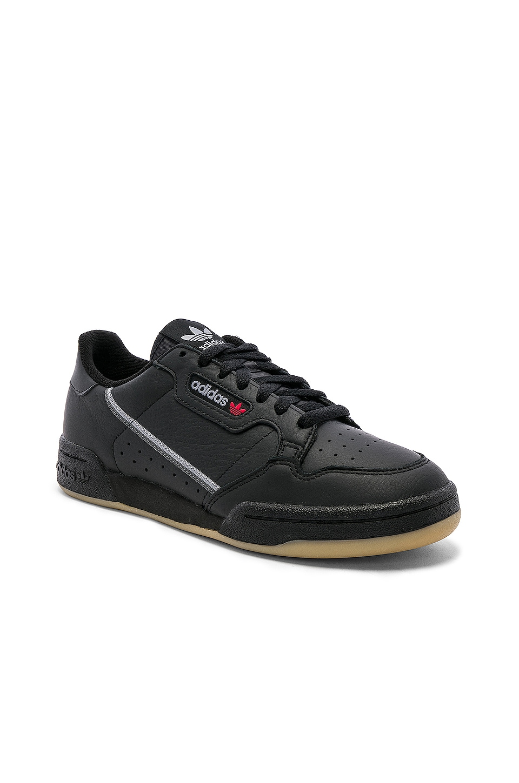 adidas Originals Continental 80 in CBLACK & GRETHR & GUM3