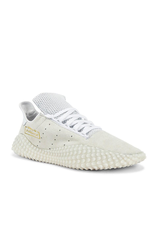 adidas Originals Kamanda 01 in CRY White & FTW White & Gold MT