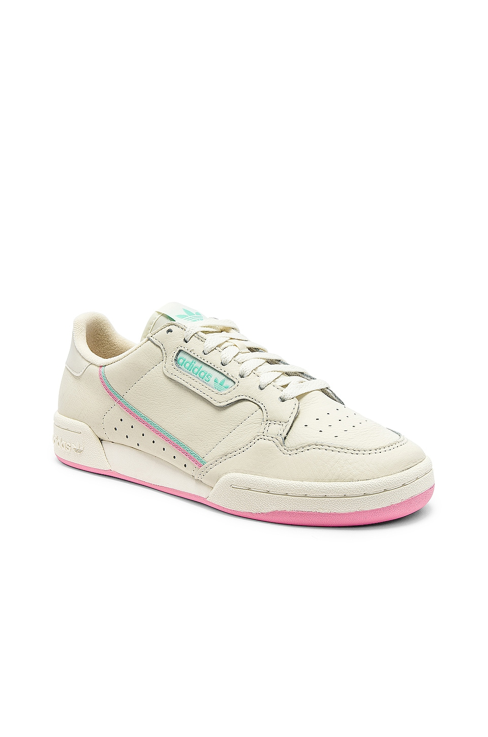 adidas Originals Continental 80 in Off White & Pink