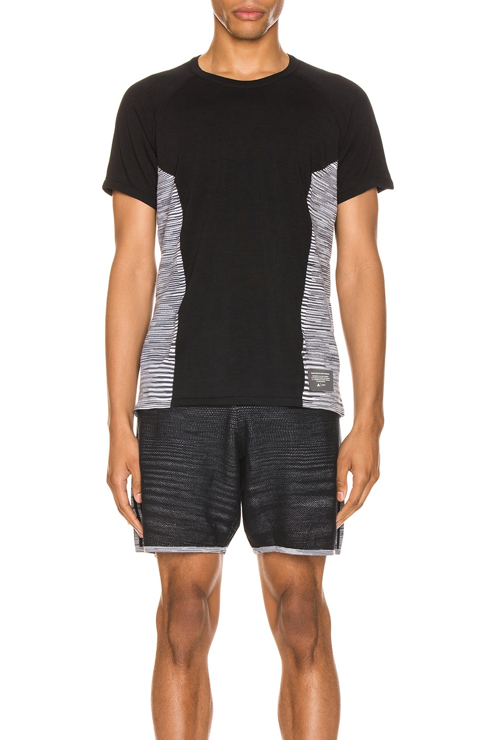 adidas by MISSONI Cru Tee in Black & Dark Grey & White