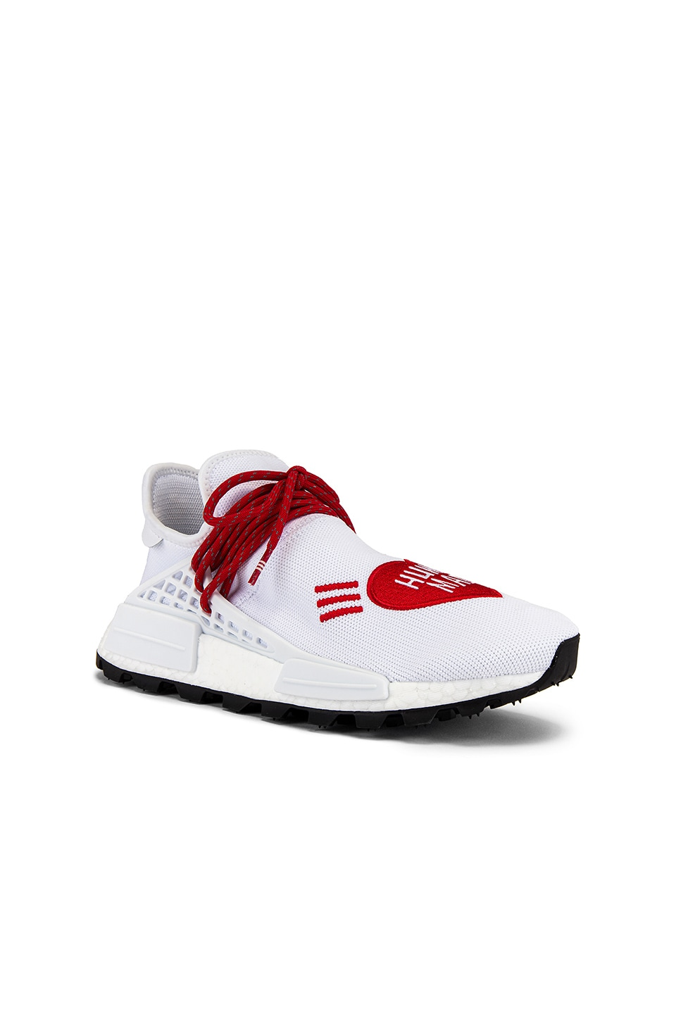 adidas x Pharrell Williams Hu NMD Human Made in White & Scarlet & Core Black